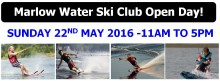 marlow water ski club open day banner