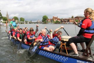 Marlow Regatta dragon boat racing