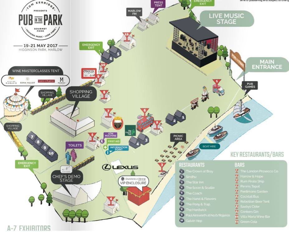 Pub in the Park map