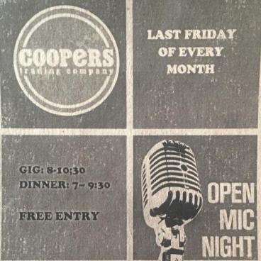 coopers open mic