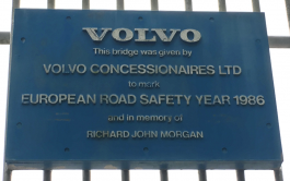 volvo footbridge marlow plaque