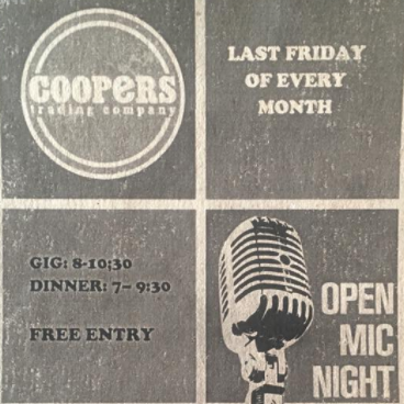 coopers open mic