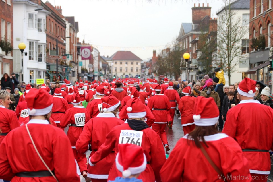 santa fun run high street