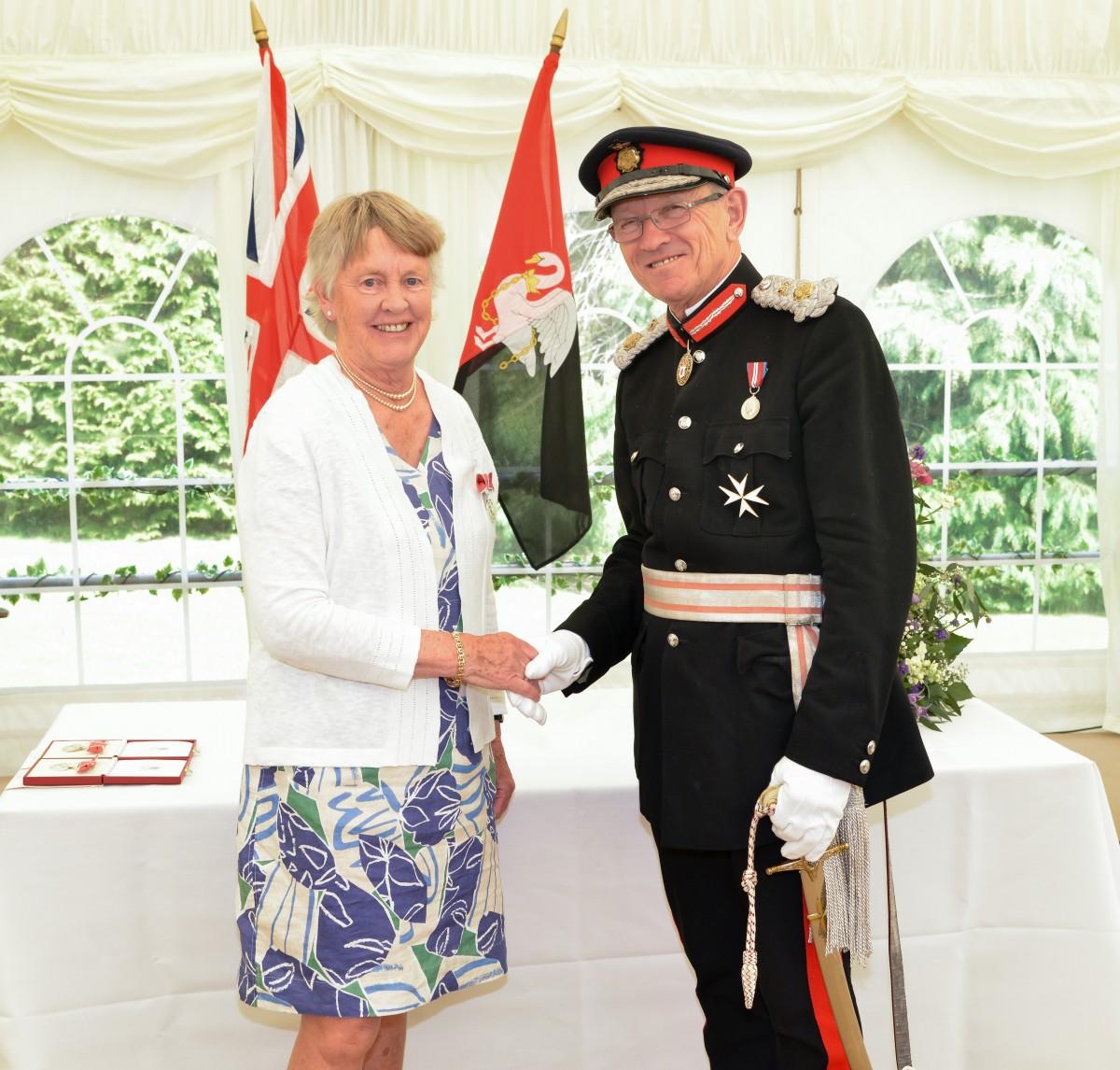 Alison Rae of Marlow receives her BEM