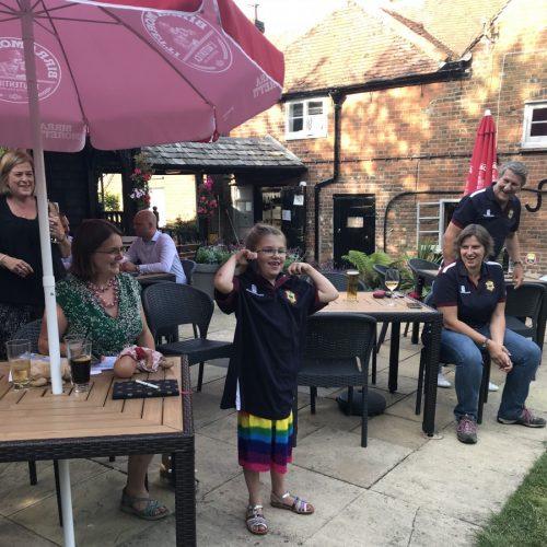 Poppy Woodhams-Beazeley in Little Marlow cricket jersey
