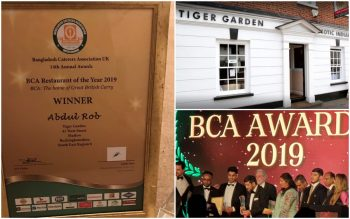 "Tiger Garden declared ""Restaurant of the Year"" at industry awards ceremony"