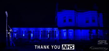 Marlow lit blue to say a big THANK YOU to the NHS!