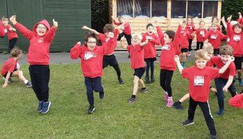 Sandygate schoolchildren run Mini London Marathon
