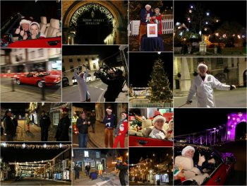 *GALLERY* Chris Evans secretly switches on Marlow's Christmas lights!