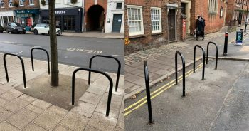 New bike hoops installed in Marlow town centre